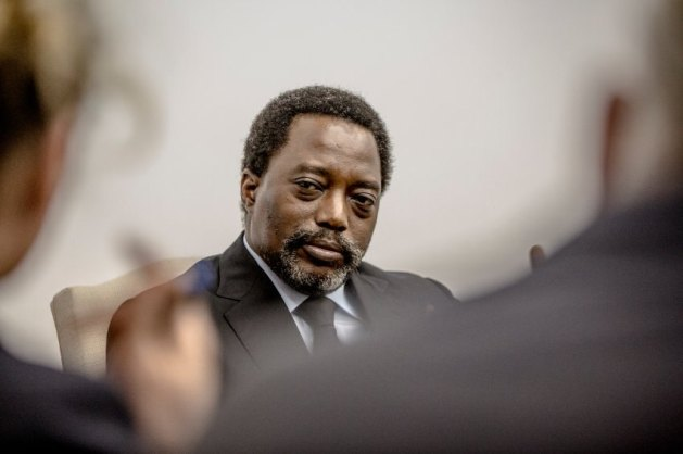 Joseph Kabila Kabange, President of the Democratic Republic of the Congo, seen during an interview with reporters of DER SPIEGEL at his residency in Kinshasa, Democratic Republic of the Congo, May 16, 2017. Mr. Kabila has been overstaying his constitutionally granted two terms in office and has postponed elections that were schedule for the end of 2016. He has not stated if he intends to step down, fueling fears that he wants to cling to power.